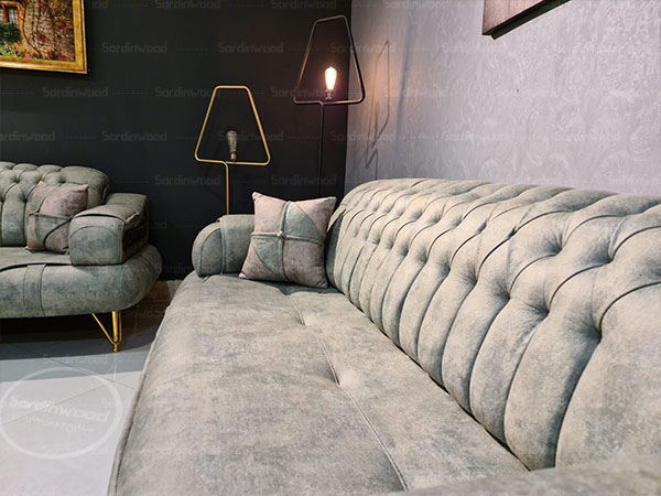 کاناپه پایه استیل-سه نفره آرموند