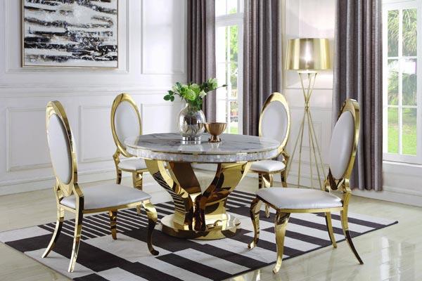 رنگ های استیل در پایه میز و صندلی