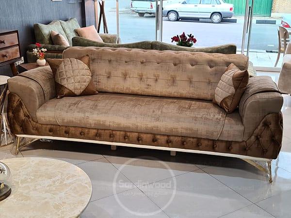 کاناپه راحتی چستر پایه استیل رامیا