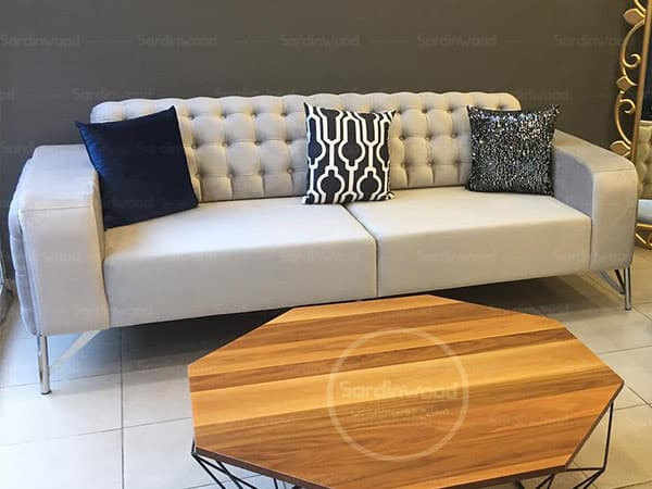 کاناپه راحتی چستر پایه استیل رویکا