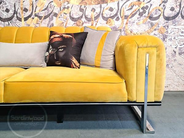 کاناپه مدل چستر پایه استیل