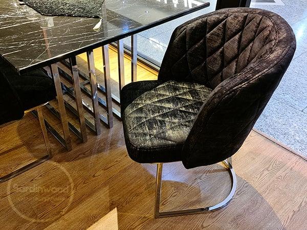 صندلی پایه استیل نقره ای ویدا