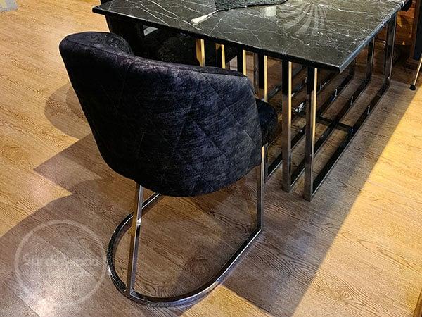 صندلی پایه استیل گلدانی ویدا