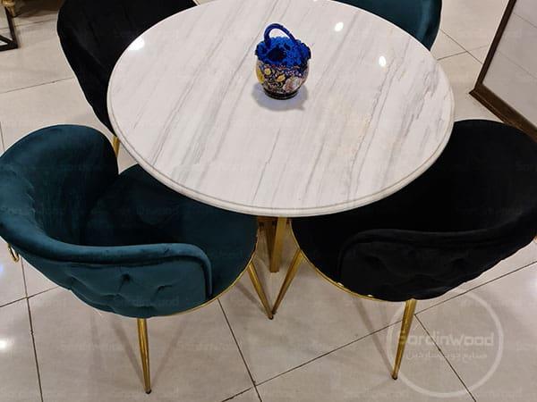 میز ناهار خوری پایه استیل گرد سورنا