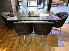 میز ناهار خوری پایه استیل گلدانی ویدا