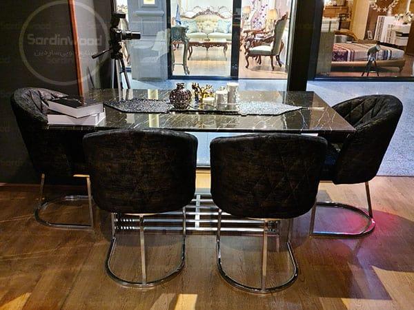 میز ناهار خوری پایه استیل ویدا