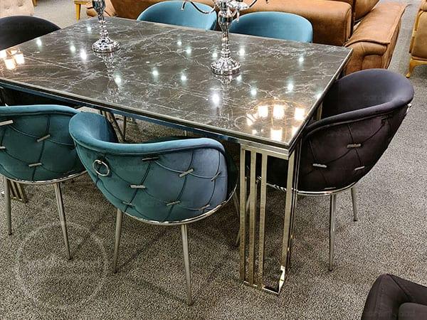 میز ناهار خوری پایه فلزی چستر میران