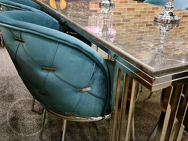 میز نهار خوری فیروزه ای چستر میران