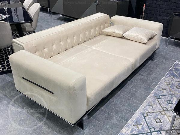 کاناپه تخت خوابشو پایه استیل مرداس