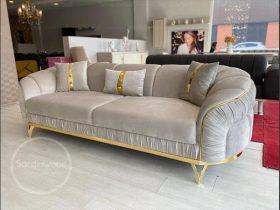 کاناپه پایه استیل طلایی نیاسا