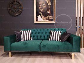 کاناپه چستر جدید پایه استیل مکابیز