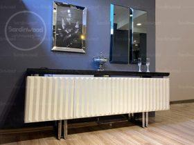 میز کنسول پایه فلزی سفید آذین